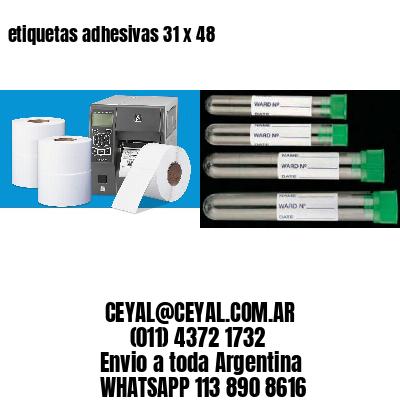 etiquetas adhesivas 31 x 48