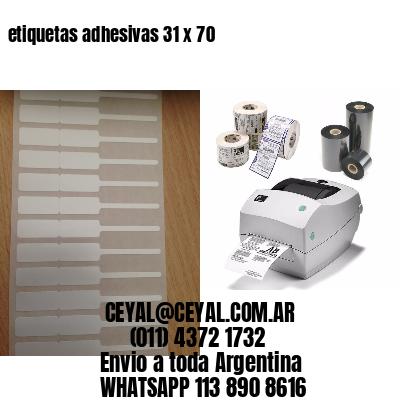 etiquetas adhesivas 31 x 70