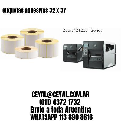 etiquetas adhesivas 32 x 37