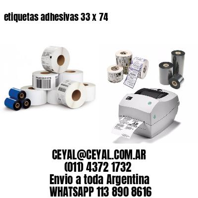 etiquetas adhesivas 33 x 74