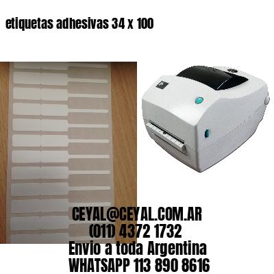 etiquetas adhesivas 34 x 100