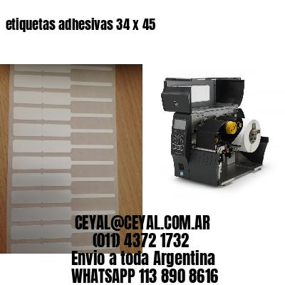 etiquetas adhesivas 34 x 45