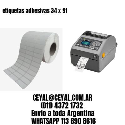 etiquetas adhesivas 34 x 91