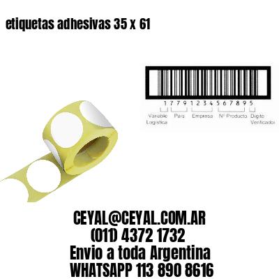 etiquetas adhesivas 35 x 61