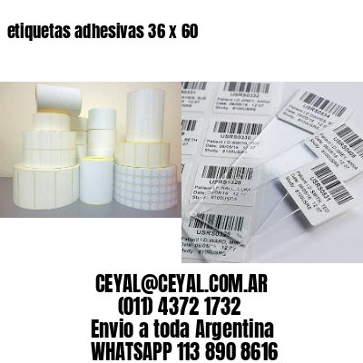 etiquetas adhesivas 36 x 60