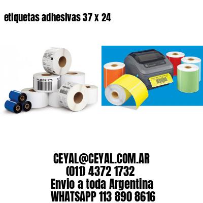 etiquetas adhesivas 37 x 24