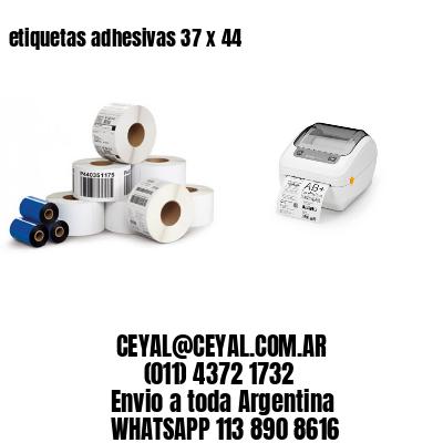 etiquetas adhesivas 37 x 44
