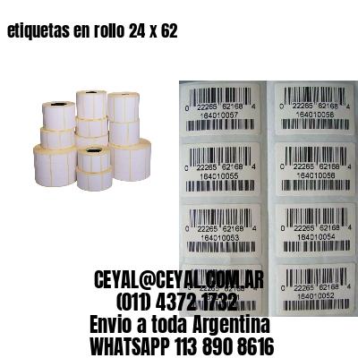 etiquetas en rollo 24 x 62