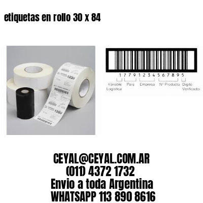 etiquetas en rollo 30 x 84