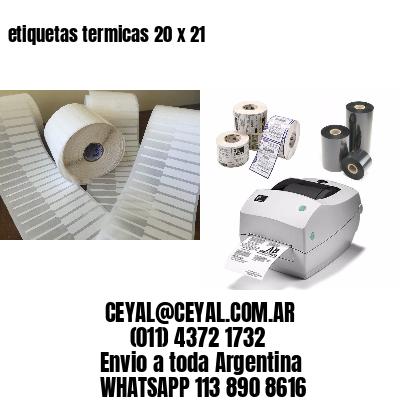 etiquetas termicas 20 x 21