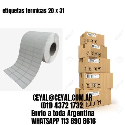 etiquetas termicas 20 x 31