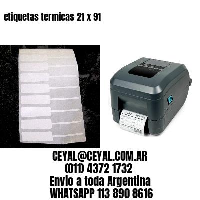 etiquetas termicas 21 x 91
