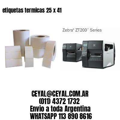 etiquetas termicas 25 x 41