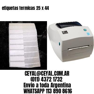 etiquetas termicas 25 x 44