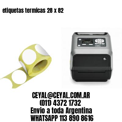 etiquetas termicas 28 x 82
