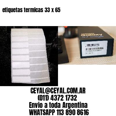 etiquetas termicas 33 x 65