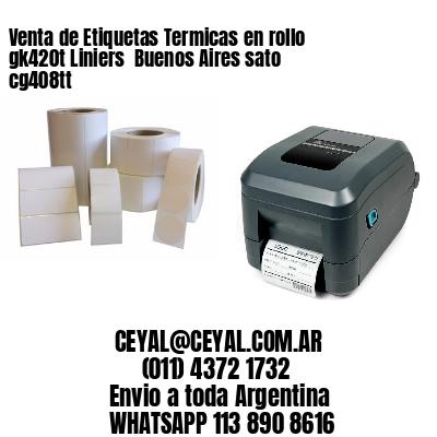 Venta de Etiquetas Termicas en rollo gk420t Liniers  Buenos Aires sato cg408tt