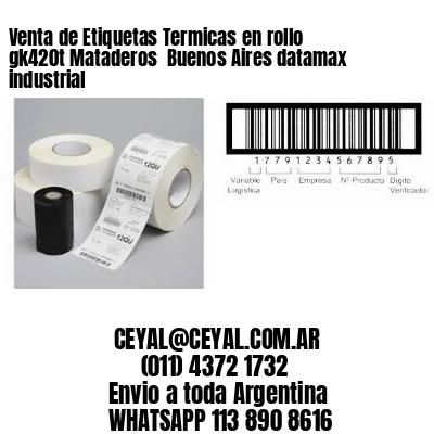 Venta de Etiquetas Termicas en rollo gk420t Mataderos  Buenos Aires datamax industrial