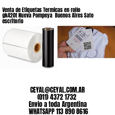 Venta de Etiquetas Termicas en rollo gk420t Nueva Pompeya  Buenos Aires Sato escritorio