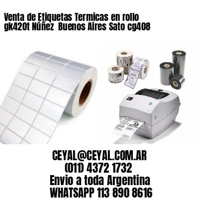 Venta de Etiquetas Termicas en rollo gk420t Núñez  Buenos Aires Sato cg408