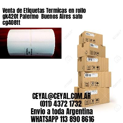 Venta de Etiquetas Termicas en rollo gk420t Palermo  Buenos Aires sato cg408tt