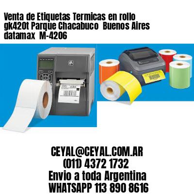 Venta de Etiquetas Termicas en rollo gk420t Parque Chacabuco  Buenos Aires datamax  M-4206