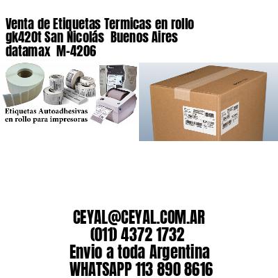 Venta de Etiquetas Termicas en rollo gk420t San Nicolás  Buenos Aires datamax  M-4206