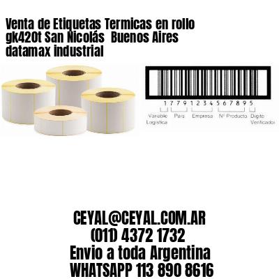 Venta de Etiquetas Termicas en rollo gk420t San Nicolás  Buenos Aires datamax industrial