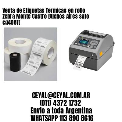 Venta de Etiquetas Termicas en rollo zebra Monte Castro Buenos Aires sato cg408tt