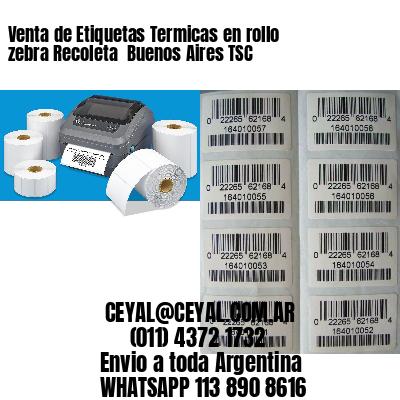 Venta de Etiquetas Termicas en rollo zebra Recoleta  Buenos Aires TSC