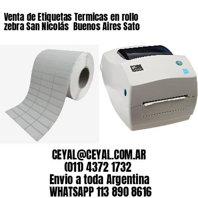 Venta de Etiquetas Termicas en rollo zebra San Nicolás  Buenos Aires Sato