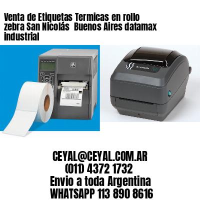 Venta de Etiquetas Termicas en rollo zebra San Nicolás  Buenos Aires datamax industrial