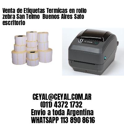 Venta de Etiquetas Termicas en rollo zebra San Telmo  Buenos Aires Sato escritorio