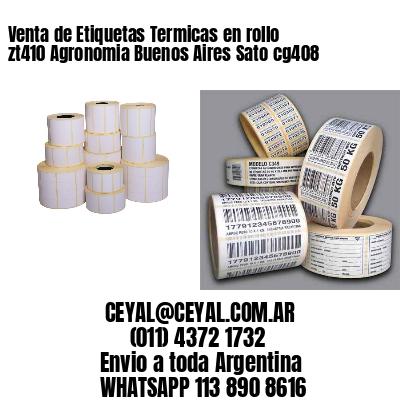 Venta de Etiquetas Termicas en rollo zt410 Agronomia Buenos Aires Sato cg408
