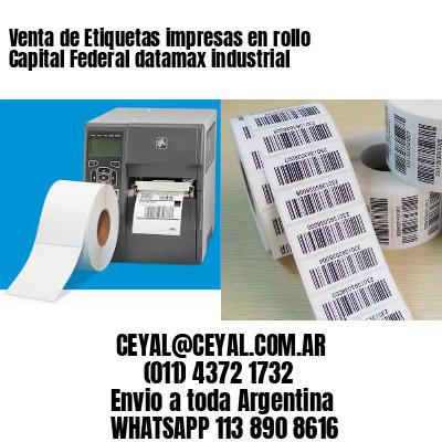 Venta de Etiquetas impresas en rollo Capital Federal datamax industrial
