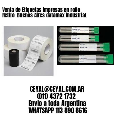 Venta de Etiquetas impresas en rollo Retiro  Buenos Aires datamax industrial