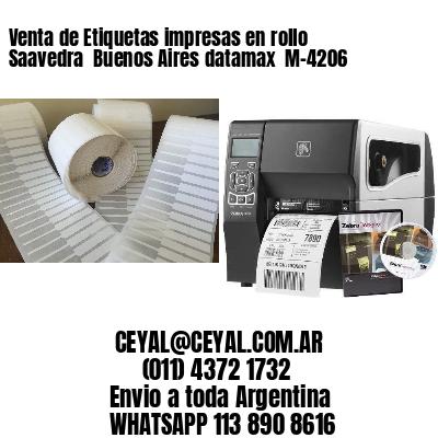 Venta de Etiquetas impresas en rollo Saavedra  Buenos Aires datamax  M-4206