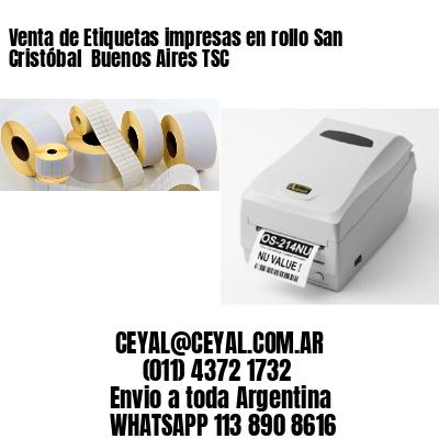 Venta de Etiquetas impresas en rollo San Cristóbal  Buenos Aires TSC