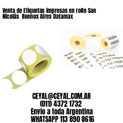 Venta de Etiquetas impresas en rollo San Nicolás  Buenos Aires Datamax