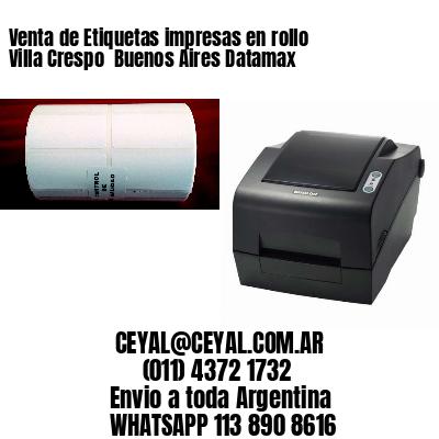 Venta de Etiquetas impresas en rollo Villa Crespo  Buenos Aires Datamax