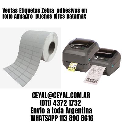 Ventas Etiquetas Zebra  adhesivas en rollo Almagro  Buenos Aires Datamax