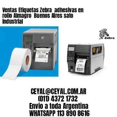 Ventas Etiquetas Zebra  adhesivas en rollo Almagro  Buenos Aires sato industrial