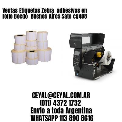 Ventas Etiquetas Zebra  adhesivas en rollo Boedo  Buenos Aires Sato cg408