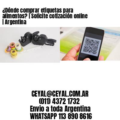 ¿Dónde comprar etiquetas para alimentos? | Solicite cotización online | Argentina
