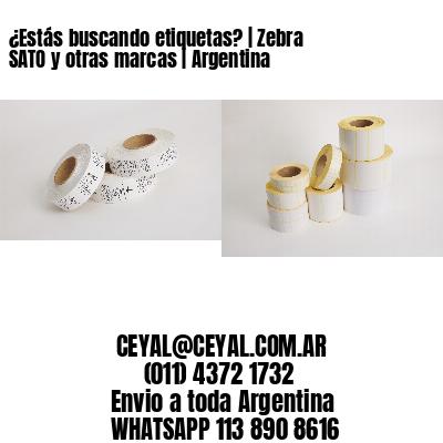 ¿Estás buscando etiquetas? | Zebra SATO y otras marcas | Argentina