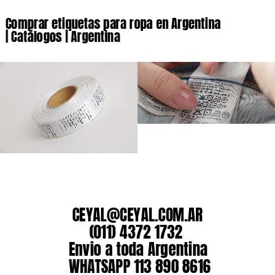 Comprar etiquetas para ropa en Argentina   Catálogos   Argentina