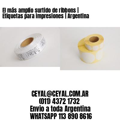 El más amplio surtido de ribbons | Etiquetas para impresiones | Argentina