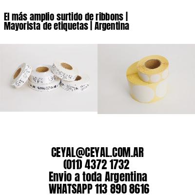 El más amplio surtido de ribbons   Mayorista de etiquetas   Argentina
