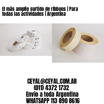 El más amplio surtido de ribbons   Para todas las actividades   Argentina