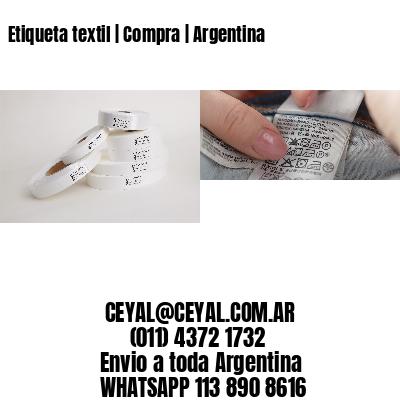 Etiqueta textil | Compra | Argentina